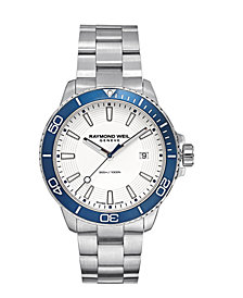 RAYMOND WEIL Men's Swiss Tango 300 Stainless Steel Bracelet Watch 42mm, Created for Macy's - A Limited Edition