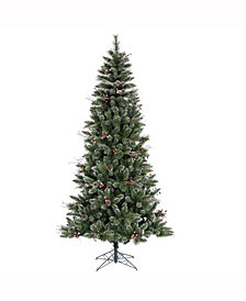 6' Snow Tipped Pine and Berry Artificial Christmas Tree Unlit