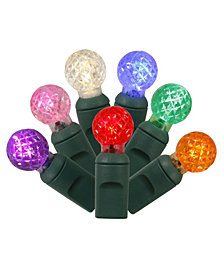 Vickerman 50 Multi-Colored G12 LED Light on Green Wire