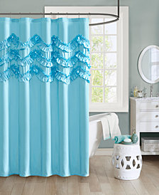 "Intelligent Design Aurora 72"" x 72"" Ruffle Shower Curtain"