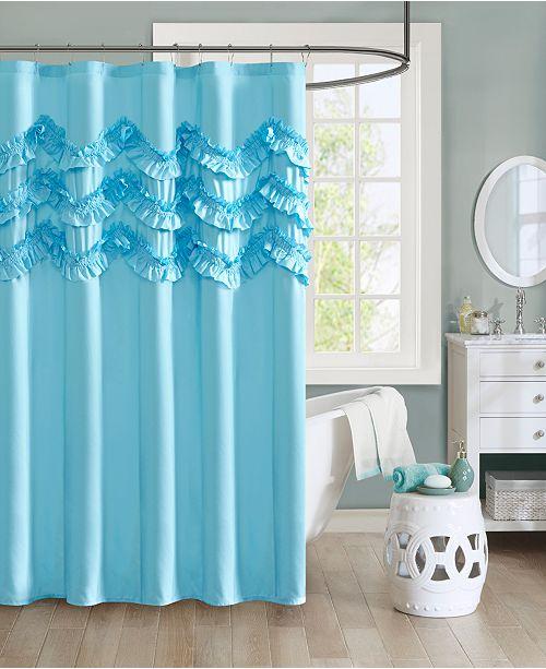 JLA Home Intelligent Design Aurora 72 X Ruffle Shower Curtain