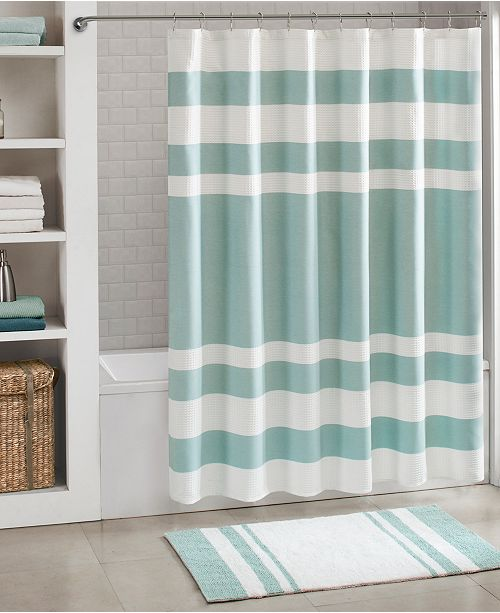 Madison Park Spa Waffle 108 X 72 Shower Curtain With 3M Treatment
