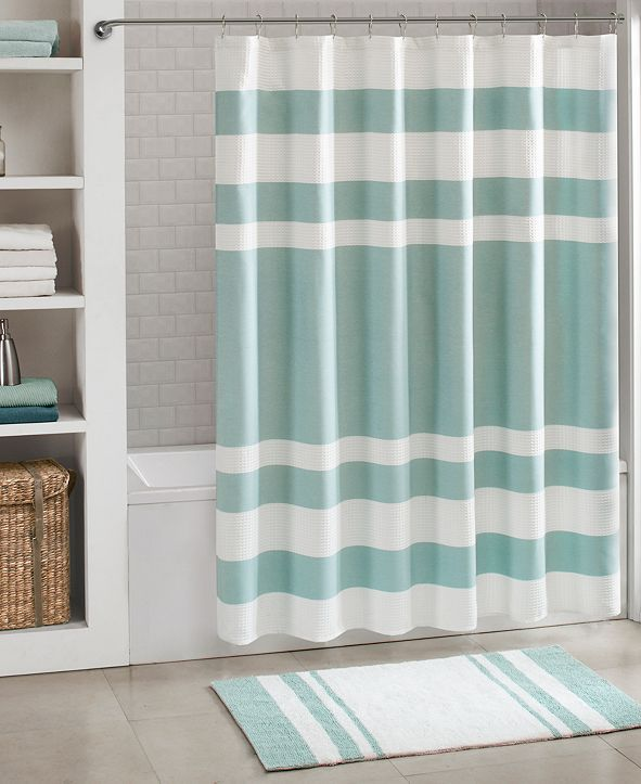 """Madison Park Spa Waffle 54"""" x 78"""" Shower Curtain with 3M Treatment"""