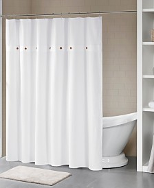 """Madison Park Finley 72"""" x 72"""" Finley 100% Cotton Waffle Weave Textured Shower Curtain"""