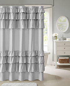 "Madison Park Grace 72"" x 72"" Ruffled Shower Curtain"