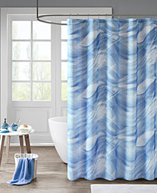 "Madison Park Marina 72"" x 72"" Printed Sheer Shower Curtain with Liner"