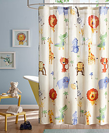 "Mi Zone Kids Safari Sam 72"" x 72"" Printed Shower Curtain"