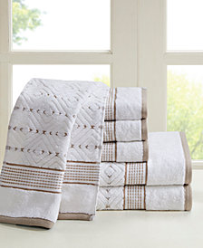 Madison Park Mikka 6-Pc Yarn Dyed Towel Set