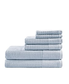 Spa Waffle Jacquard 600 GSM Combed Cotton 6-Pc. Towel Set