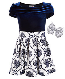 Beautees Big Girls 3-Pc. Bodysuit, Skirt & Bow Set