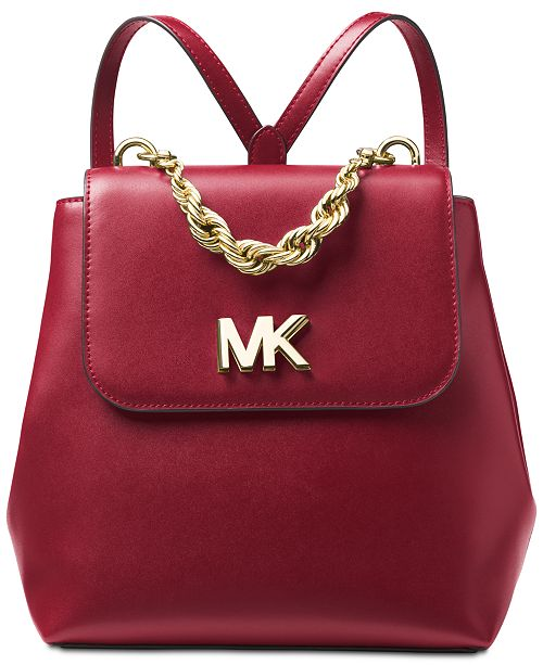b17a1c65731e Michael Kors Mott Chain Leather Backpack & Reviews - Handbags ...