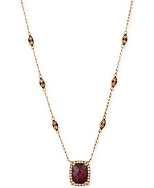 Pomegranate Garnet™ (2 1/3 ct.t.w.) and diamond (7/8 ct.t.w.) Necklace set in 14k Rose Gold®
