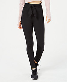 Material Girl Active Juniors' Tie-Front Leggings, Created for Macy's