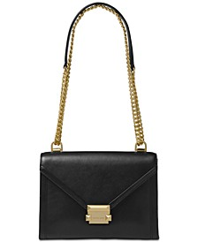 Whitney Polished Leather Shoulder Bag