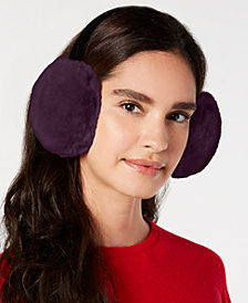 I.N.C. Velvet & Faux-Fur Earmuffs, Created for Macy's