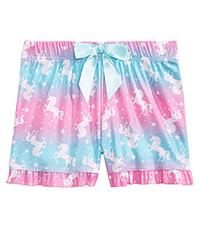 Max & Olivia Big Girls Printed Pajama Shorts, Created for Macy's