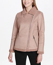Calvin Klein Faux-Shearling Coat
