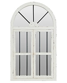 """42"""" Arched Window Wall Mirror"""