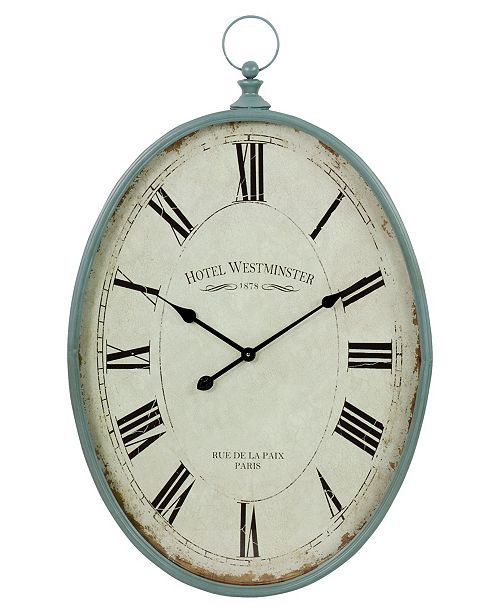Aspire Home Accents Sonia Oval Wall Clock