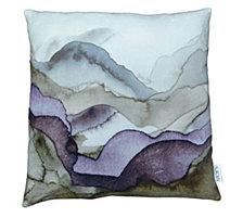 Mountains Velvet Feather Cushion 25X25