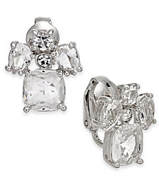 kate spade new york Crystal Cluster Clip-On Button Earrings