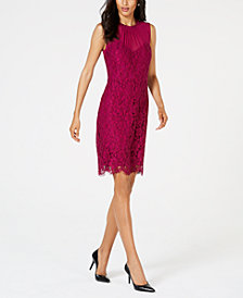 Anne Klein Illusion Lace Sheath Dress