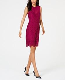 Anne Klein Illusion Lace Sheath Dress