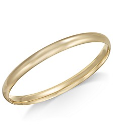 Polished Dome Bangle Bracelet in 14k Gold