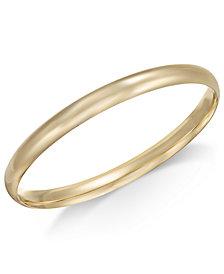 Polished Dome Bangle Bracelet in 14k Gold