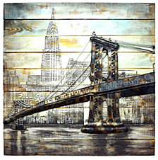 Island Bridge Metal Wall Decor