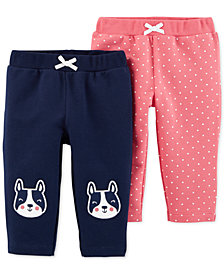 Carter's Baby Girls 2-Pk. Pull-On French Terry Pants