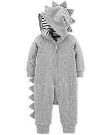 Carter's Baby Boys Hooded Spiked Zip-Up Cotton Coverall