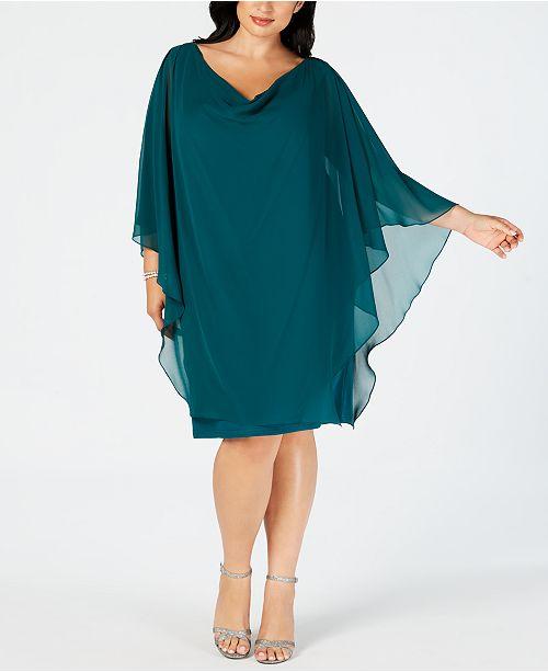 36b9b76b2c7 Betsy   Adam Plus Size Embellished Overlay Shift Dress   Reviews ...