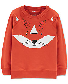Carter's Baby Boys Fox-Print Cotton Sweatshirt