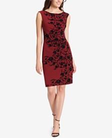 Jessica Howard Petite Velvet-Flocked Dress