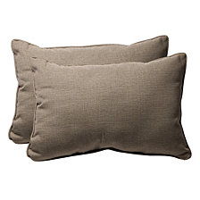 Monti Chino Over-sized Rectangular Throw Pillow, Set of 2