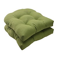 Forsyth Kiwi Wicker Seat Cushion, Set of 2
