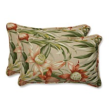 Botanical Glow Tiger Stripe Rectangular Throw Pillow, Set of 2
