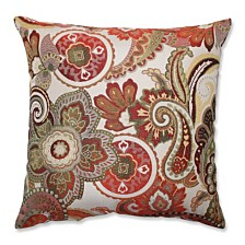 "Crazy Rosewood 18"" Throw Pillow"