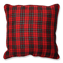 "Holiday Plaid 16.5"" Throw Pillow"