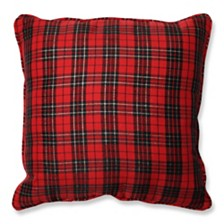 """Holiday Plaid 16.5"""" Throw Pillow"""