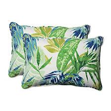 Soleil Blue/Green Over-sized Rectangular Throw Pillow, Set of 2