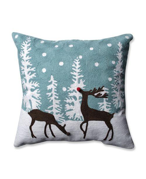 "Pillow Perfect Rudolph Frost 16.5"" Throw Pillow"