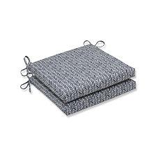 Herringbone Slate Squared Corners Seat Cushion, Set of 2