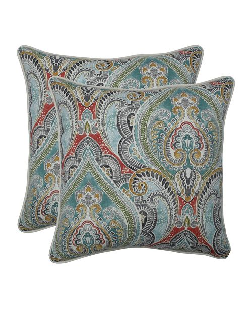 """Pillow Perfect Pretty Witty Reef 18.5"""" Throw Pillow, Set of 2"""