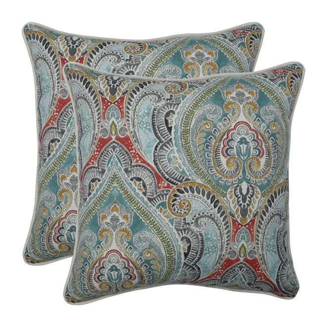 "Pillow Perfect Pretty Witty Reef 18.5"" Throw Pillow, Set of 2"