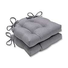 Sonoma Silver Reversible Chair Pad, Set of 2