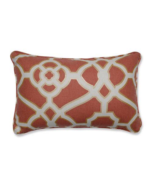 Pillow Perfect Burnished Tile Spice Rectangular Throw Pillow