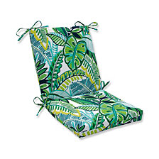 Aruba Jungle Green Squared Corners Chair Cushion