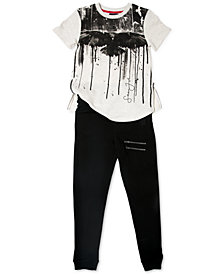 Sean Jean Big Boys Graphic-Print T-Shirt & Hot Hand Jogger Pants Separates
